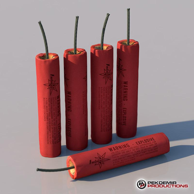 set of christmas fireworks 3d model turbosquid