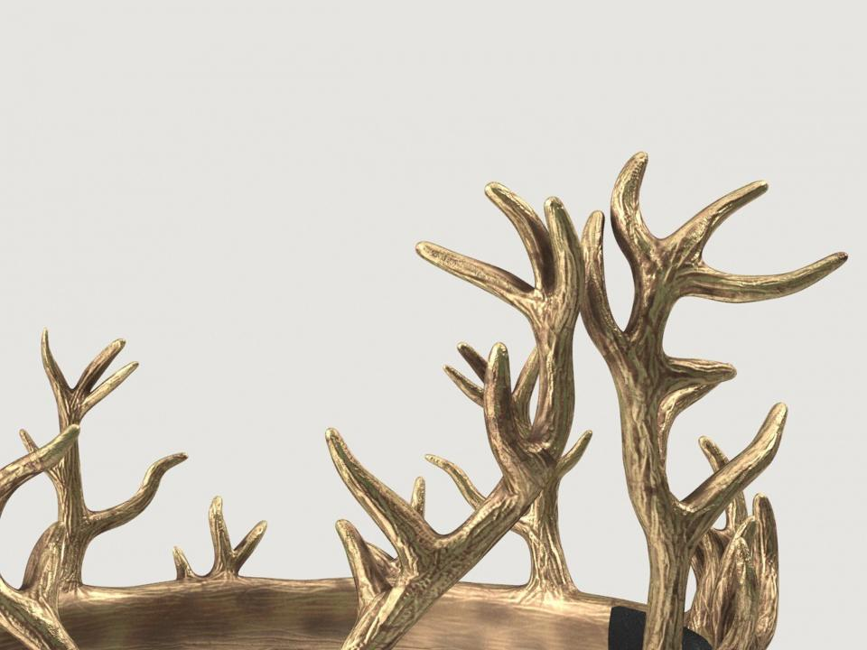 sigil of renly baratheon crown 3d model turbosquid
