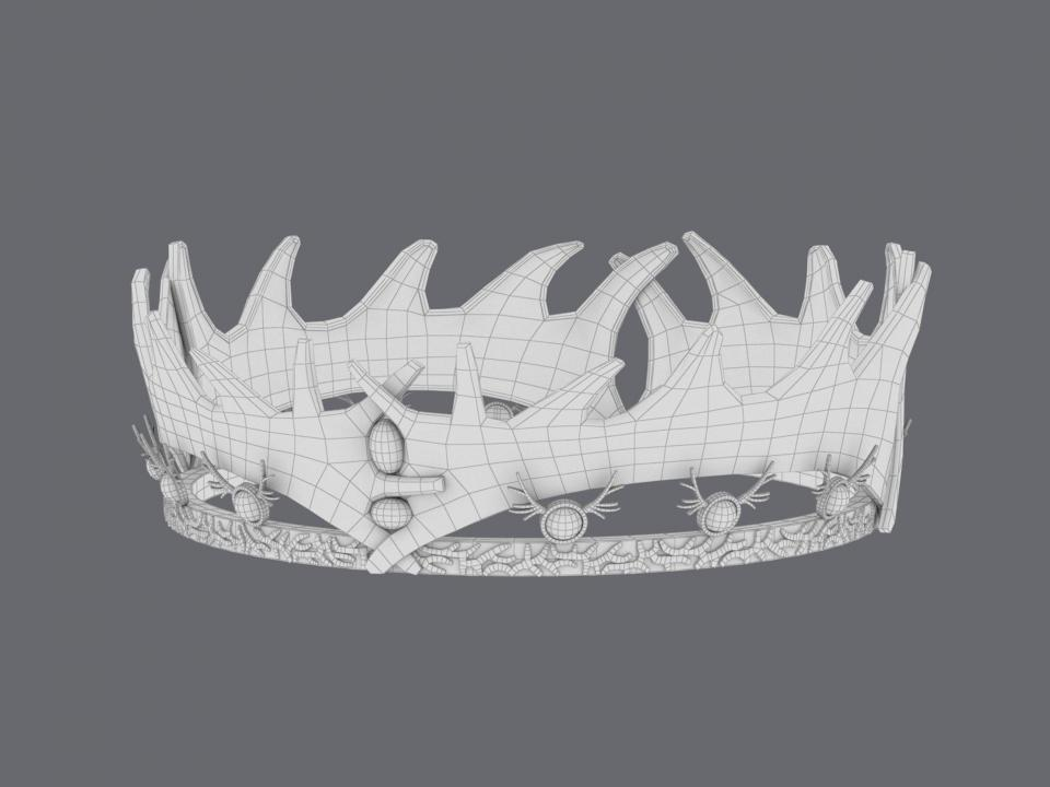 robert baratheon crown wireframe 3d model turbosquid