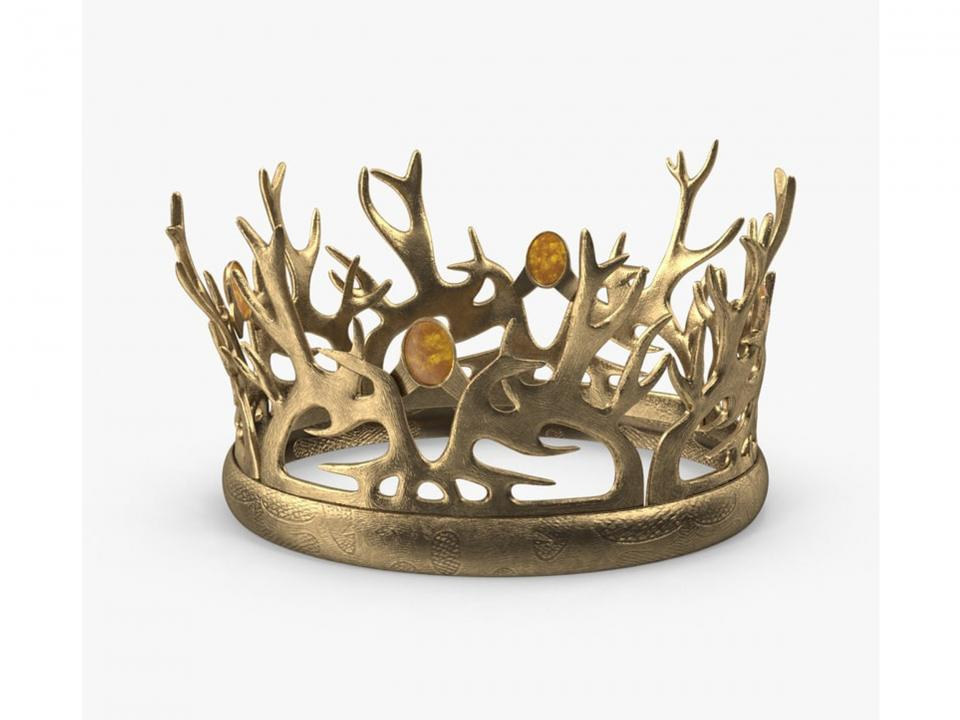 tommen baratheon crown 3d model turbosquid