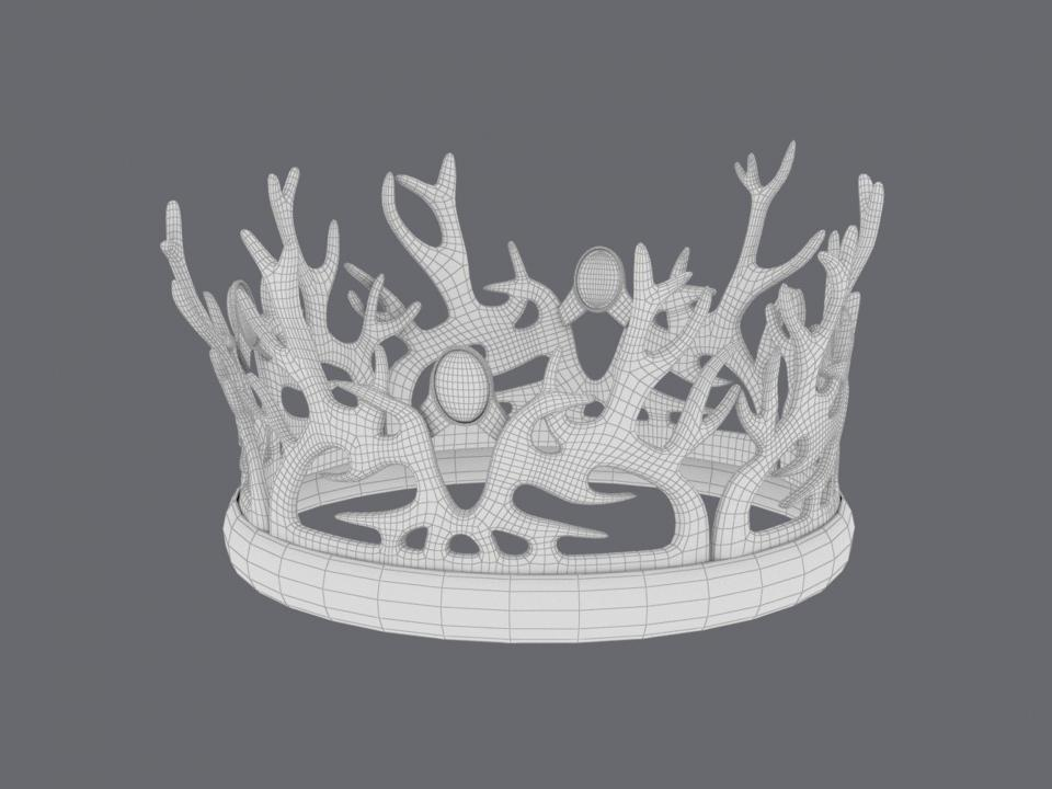 got crown wireframe 3d model turbosquid