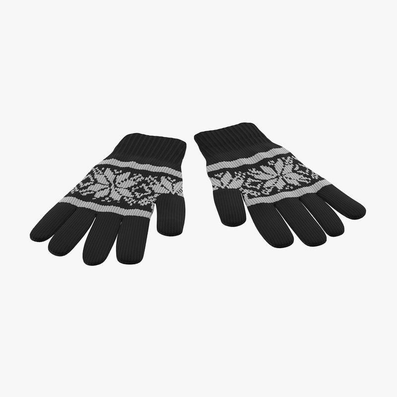 gloves 3d model turbosquid