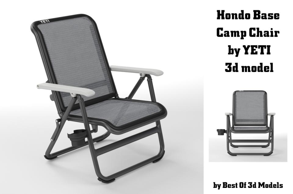hondo base camp chair by yeti 3d model