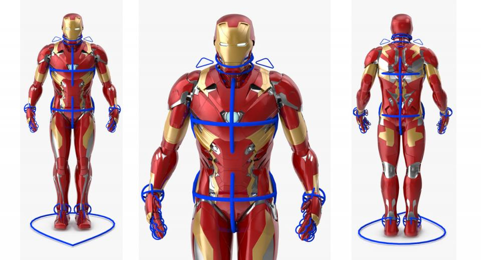 avengers superhero rigged 3d model turbosquid