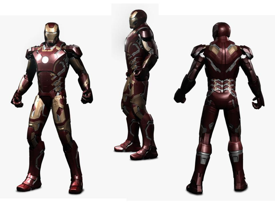 iron man avengers 3d model turbosquid