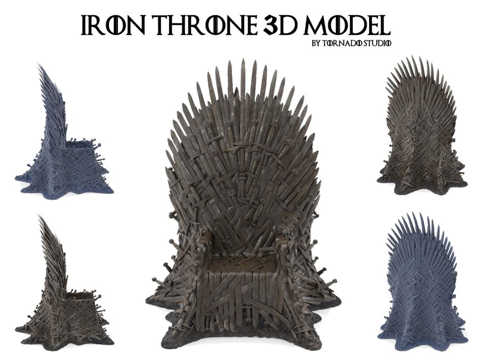iron throne 3d model turbosquid