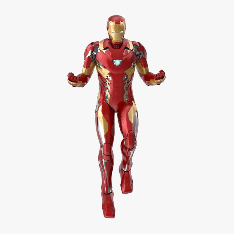 fighting pose iron man 3d model turbosquid