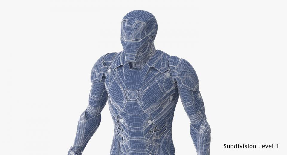 iron man full body vray 3d model turbosquid