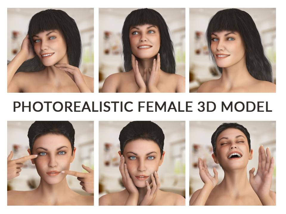 woman 3d model turbosquid