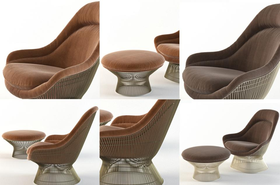 knoll furniture 3d model turbosquid