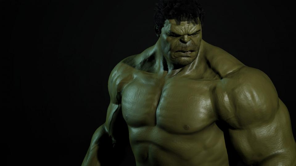 hulk looking down 3d model turbosquid