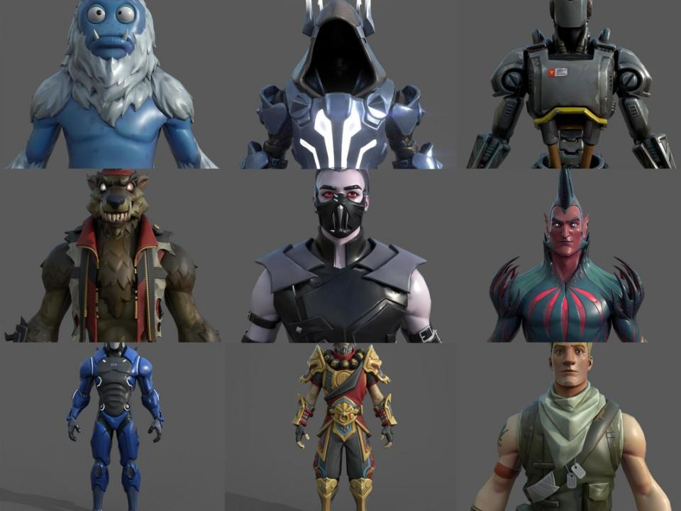 fortnite male characters 3d models turbosquid