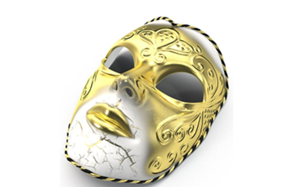 Mardi Gras New Orleans mask 3d model turbosquid