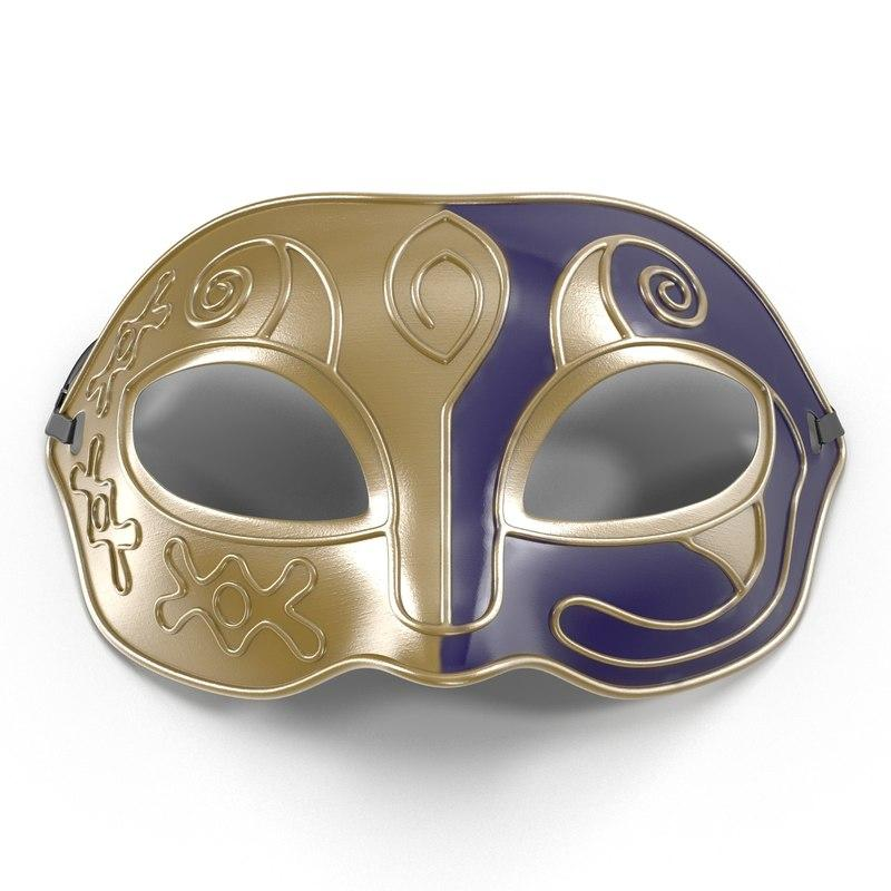 venetian facemask 3d model turbosquid