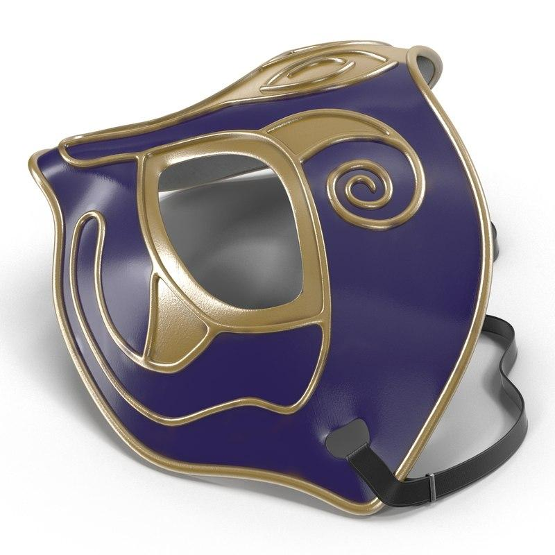 venetial style mask 3d model turbosquid