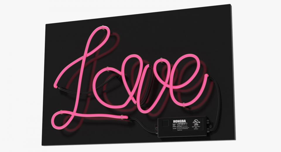 neon sign 3d model turbosquid