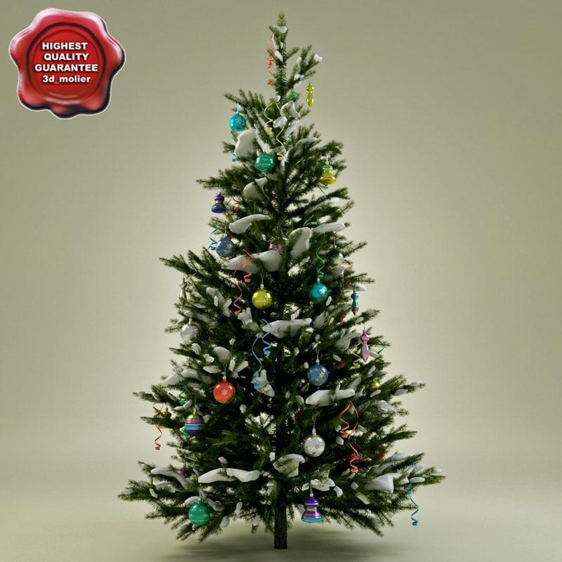 new year tree 3d model turbosquid