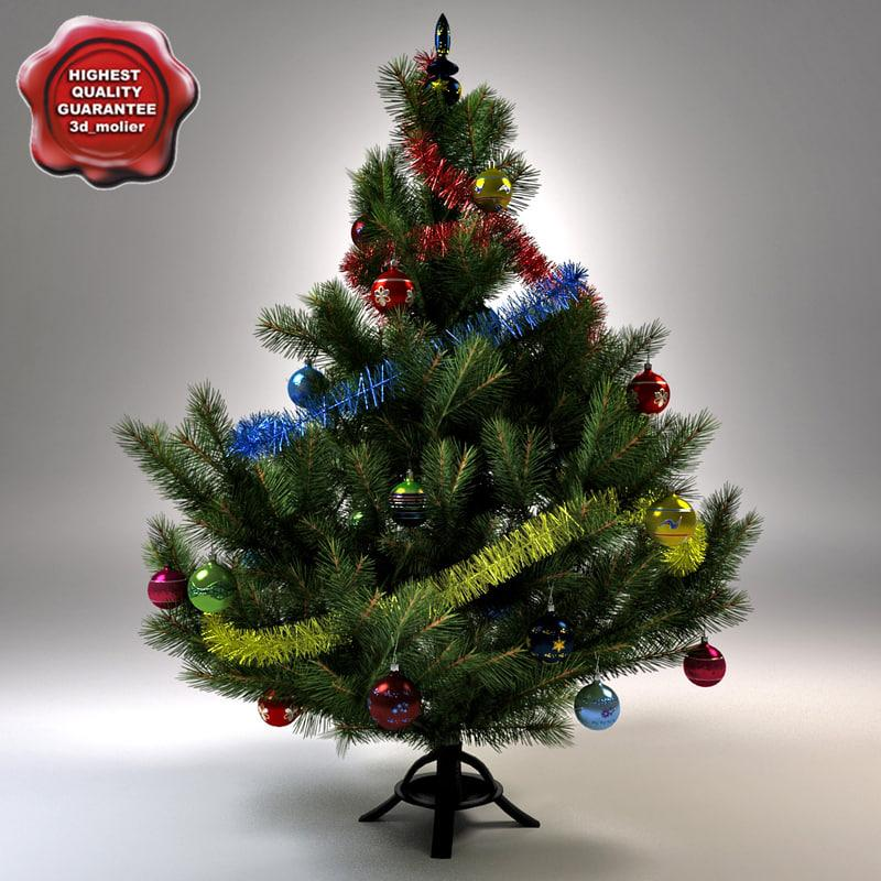 small christmas tree 3d model turbosquid