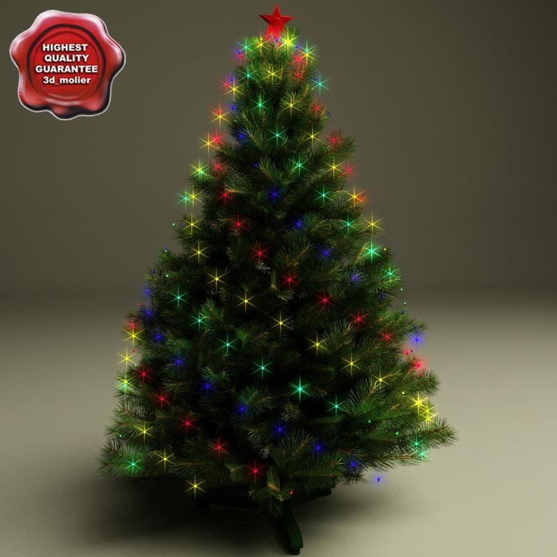 christmas tree decor 3d model turbosquid