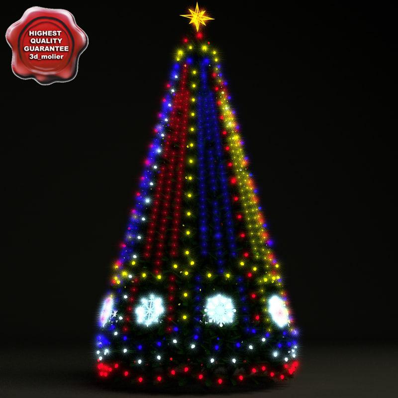 christmas tree lights 3d model turbosquid