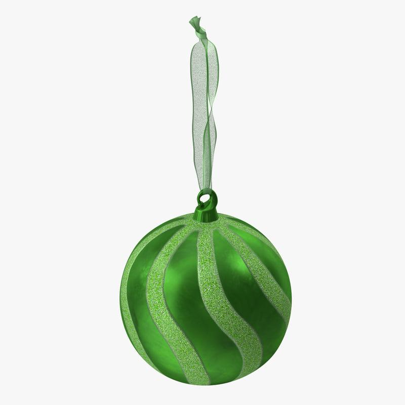christmas ball christmas tree decoration 3d model turbosquid