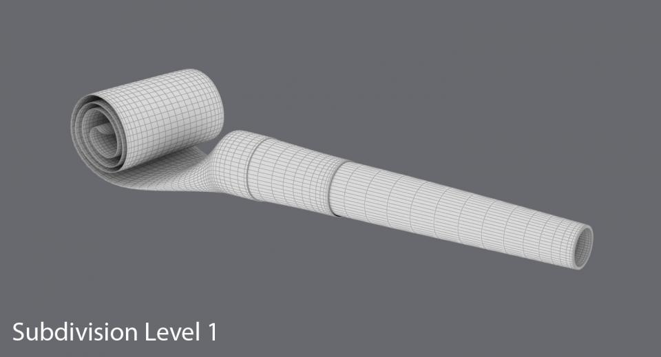 3dsmax party blower 3d model turbosquid