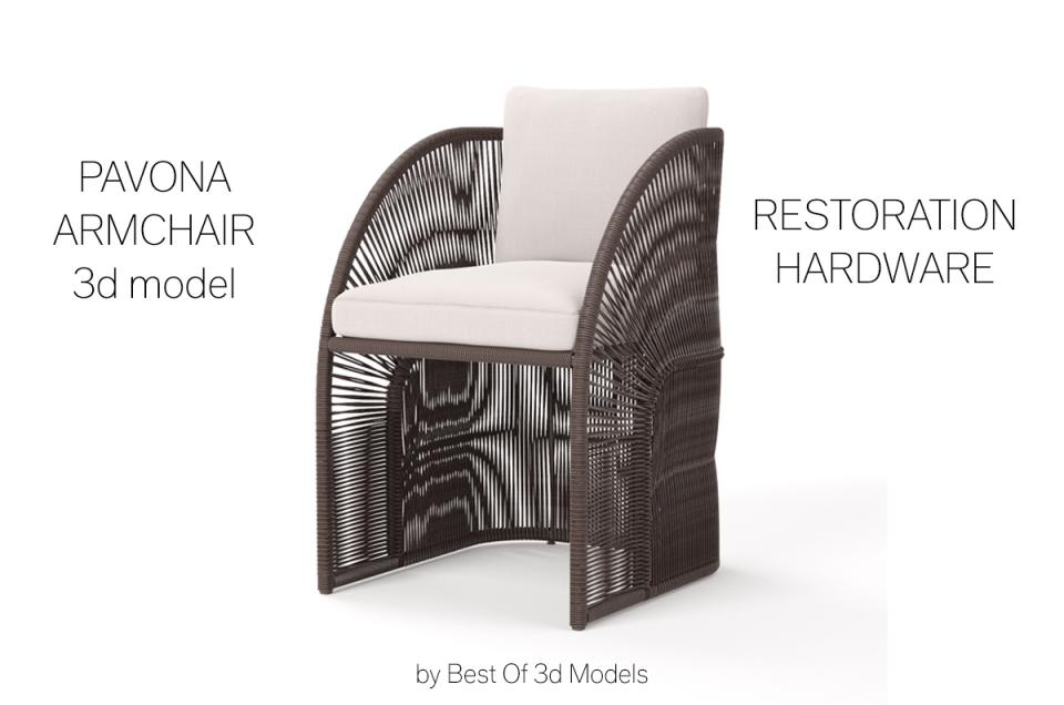 outdoor chair 3d model restoration hardware