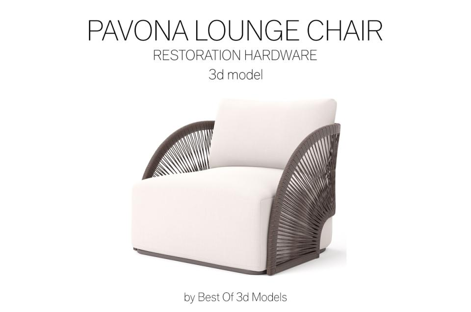 chaise longue 3d model restoration hardware