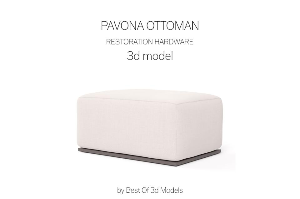 footrest 3d model restoration hardware
