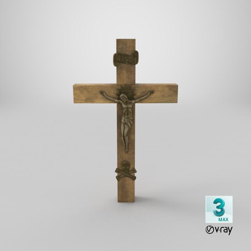 3d model vray crucifix