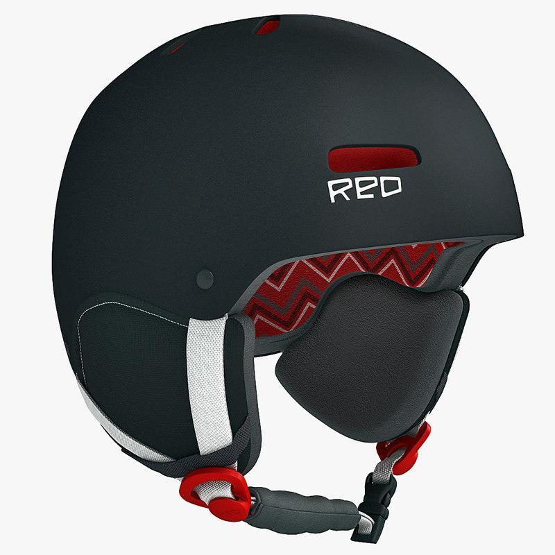 snowboard helmet 3d model turbosquid