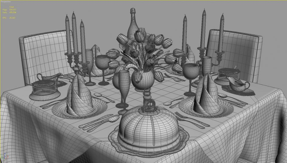 square restaurant table 3d model turbosquid