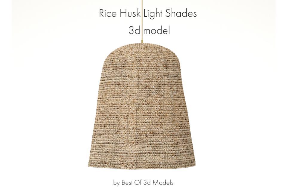 rice husk light shades 3d model