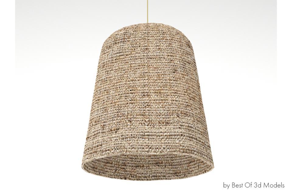 woven light from rice husk thread 3d model
