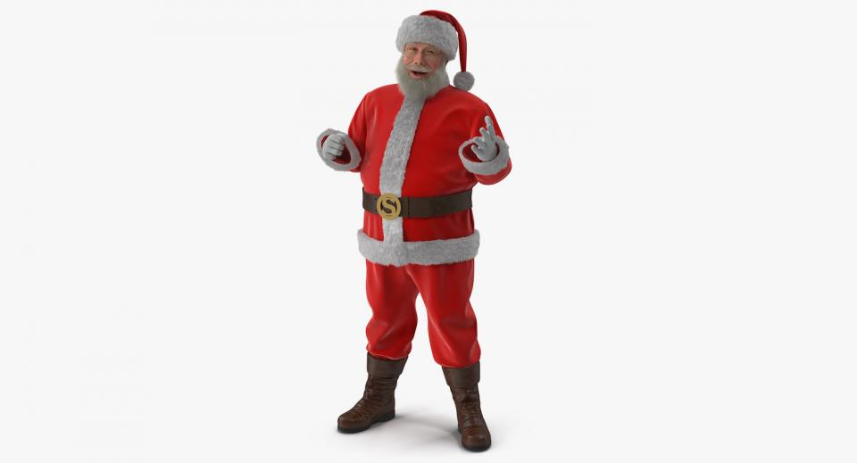 santa claus rigged 3d model turbosquid