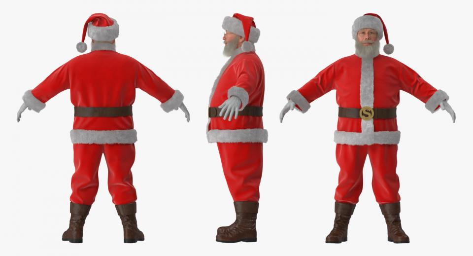 christmas santa 3d model turbosquid