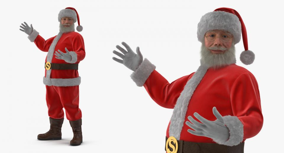 3d model of santa claus turbosquid