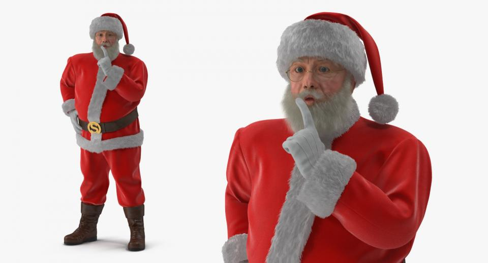 santa claus full costume 3d model turbosquid