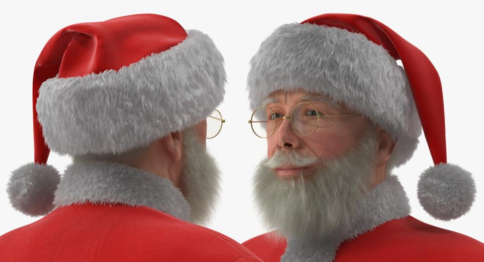 santa claus face smiling 3d model turbosquid