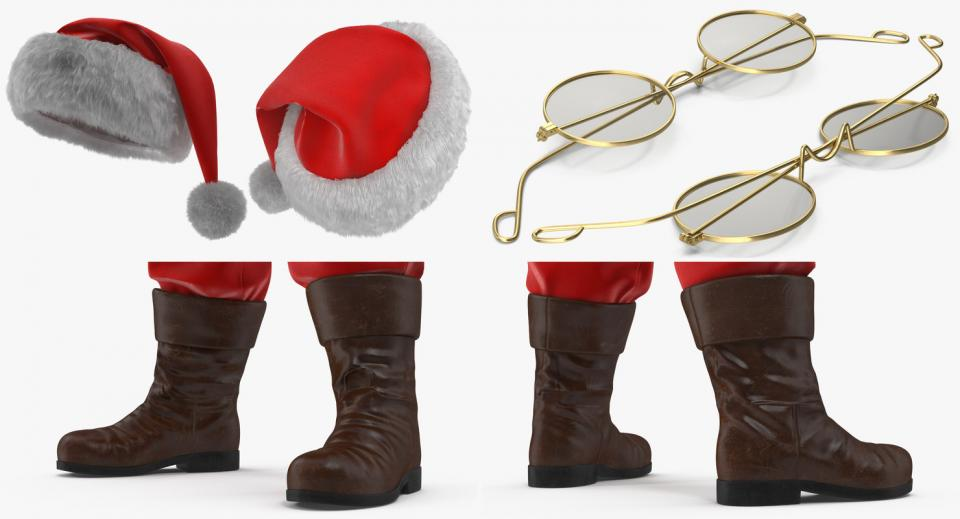 xmas accessories 3d model turbosquid