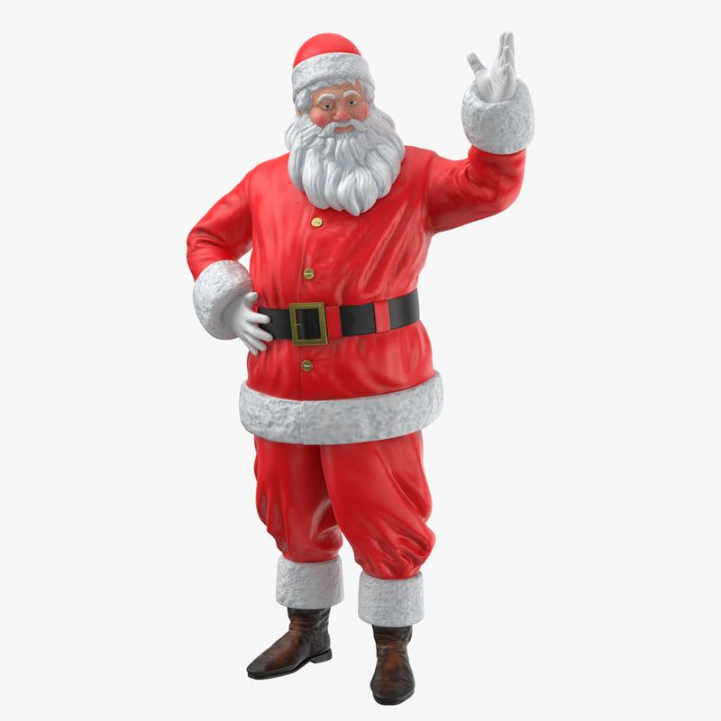santa claus figure decor 3d model turbosquid