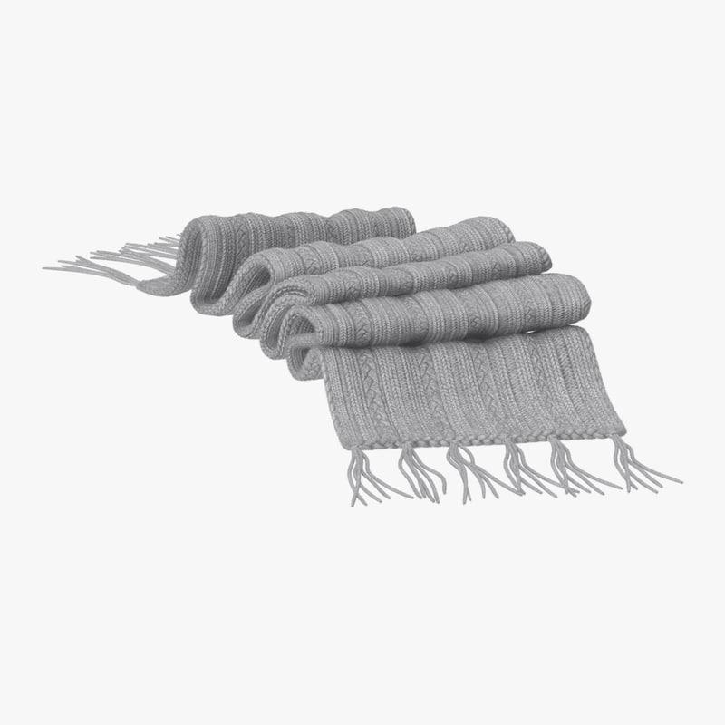 scarf 3d model turbosquid