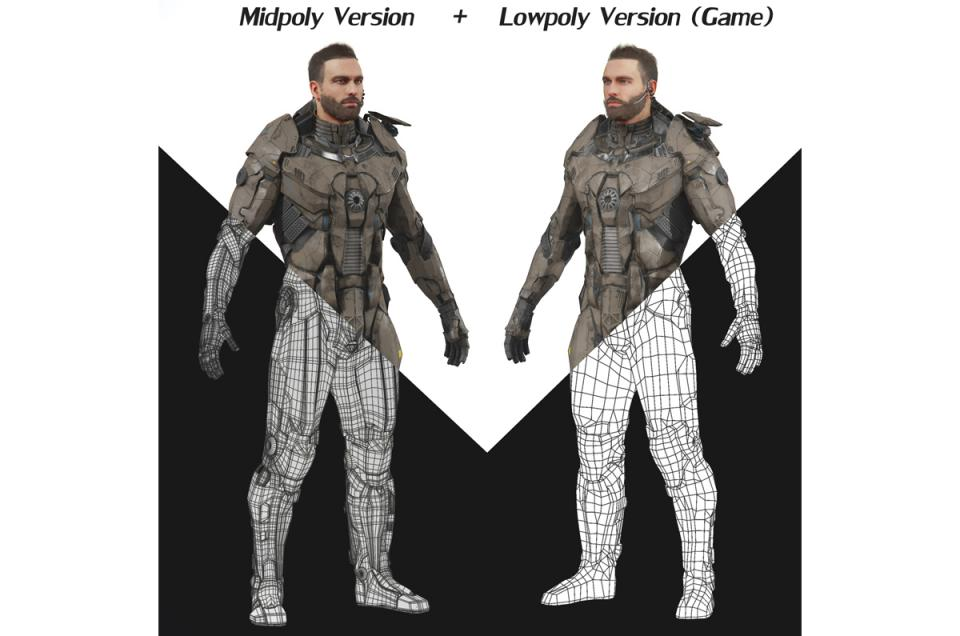 military people unreal unity 3d model turbosquid
