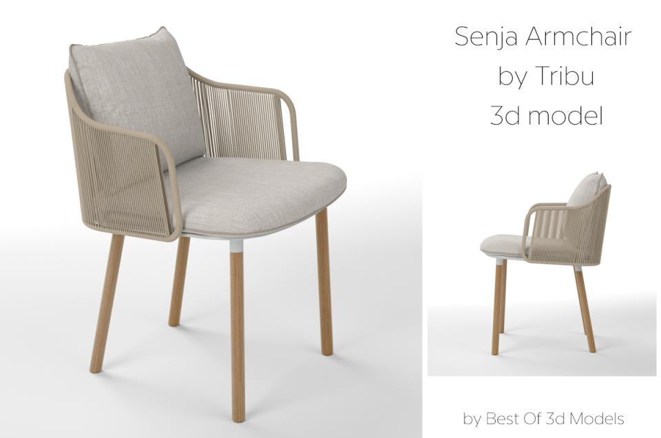 senja armchair tribu 3d model