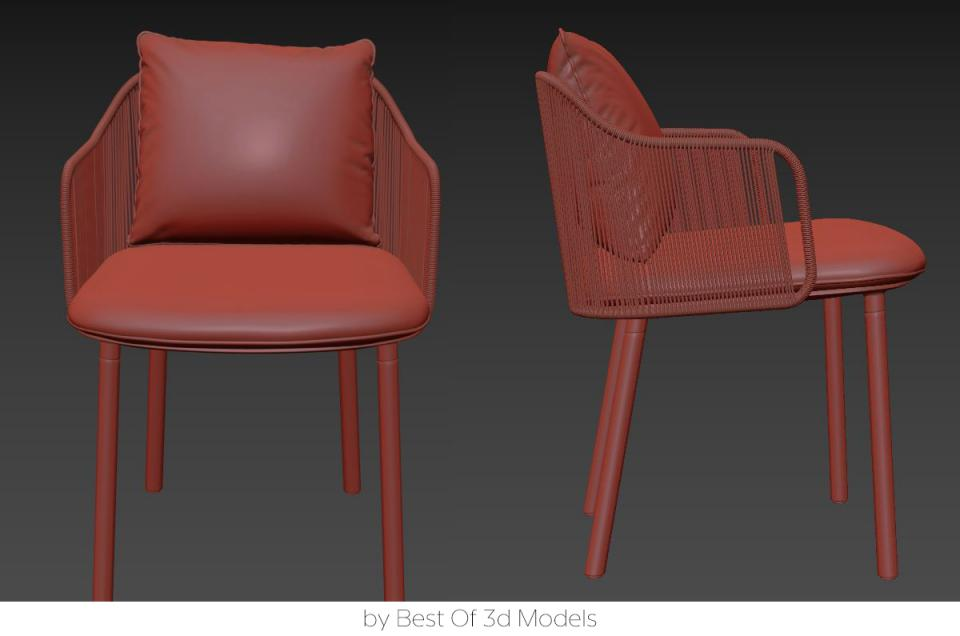 woven amchair tribu 3d model