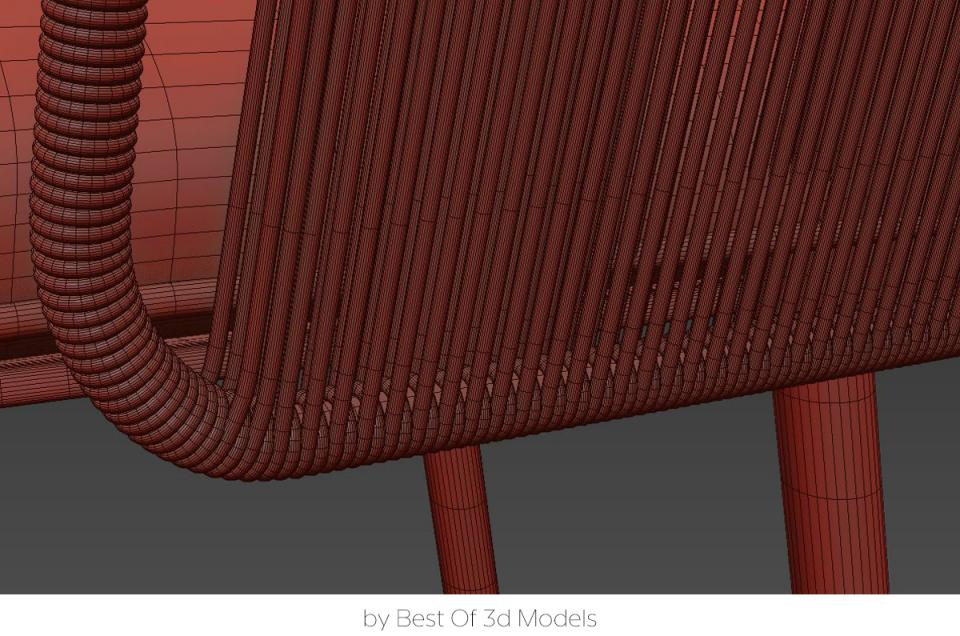 outdoor armchair tribu 3d model