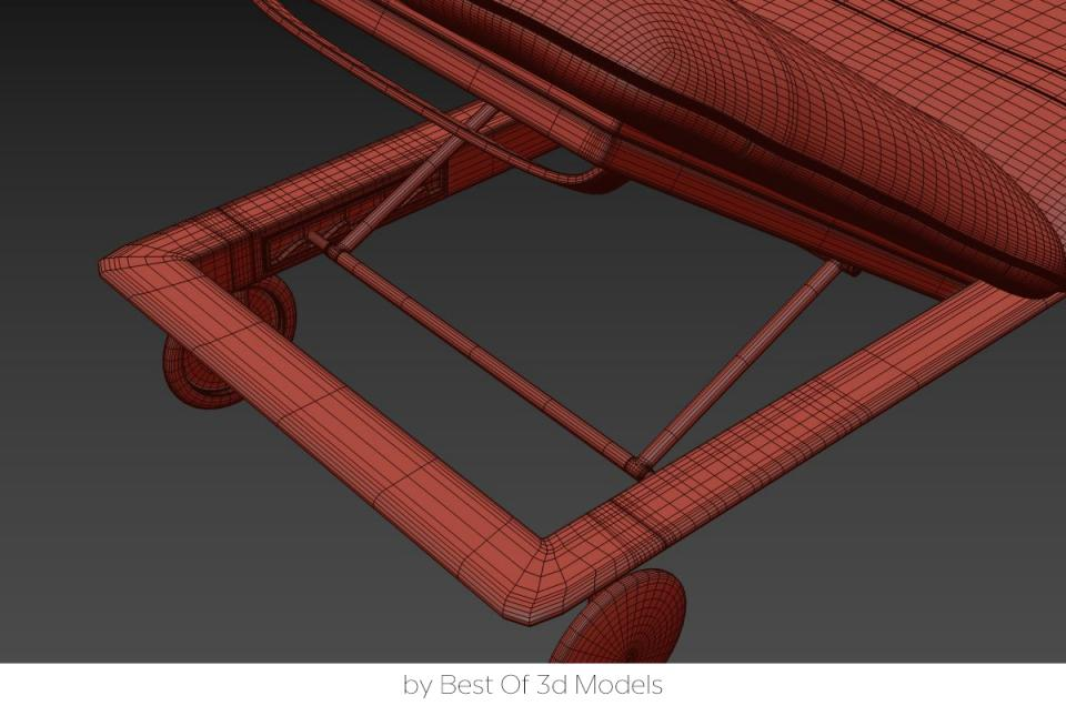 deck chair 3d model tribu