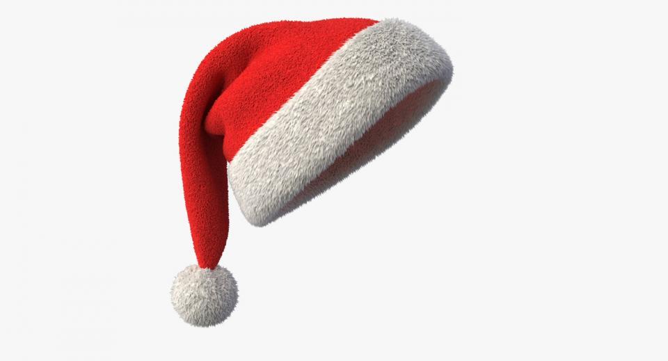 santa hat 3d model turbosquid