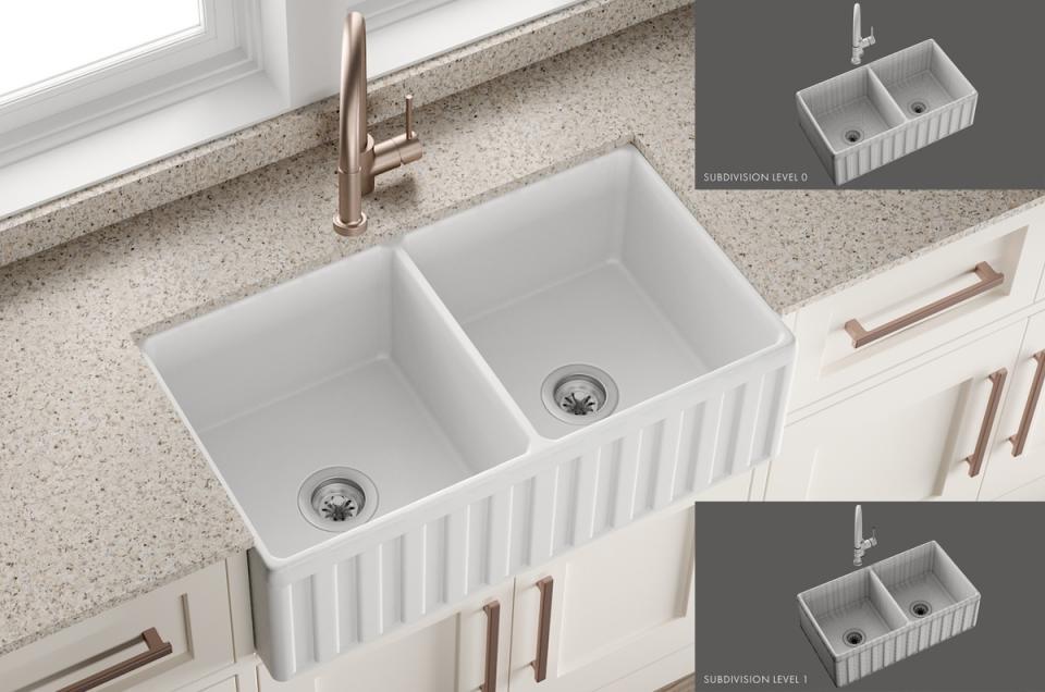 Sink Oldham Mixer Royden 3d model turbosquid