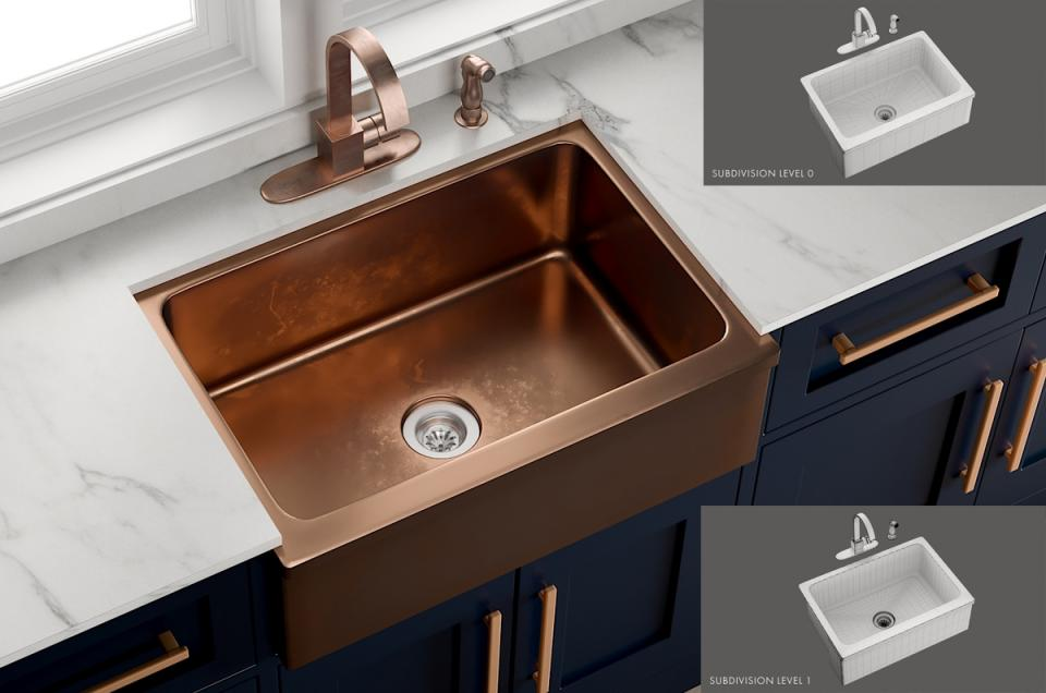 Sink Bria Mixer Aster 3d model turbosquid